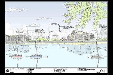 US embassy plans: view from across the river